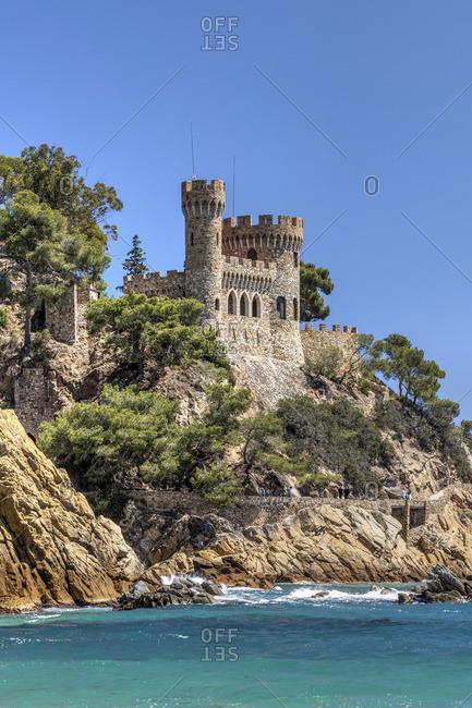 Castillo d'en Plaja castle, Lloret de Mar, Costa Brava, Catalonia, Spain