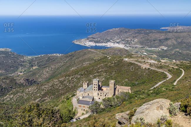 Sant Pere de Rodes benedictine monastery, El Port de la Selva, Costa Brava, Catalonia, Spain