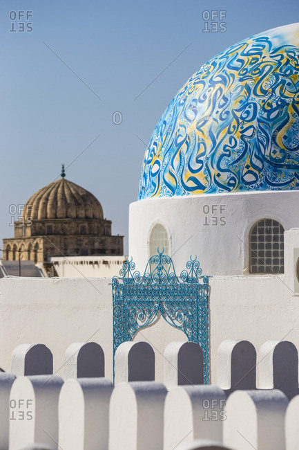 Tunisia, Kairouan, Madina, Dome on the terrace roof of a cosmetic shop