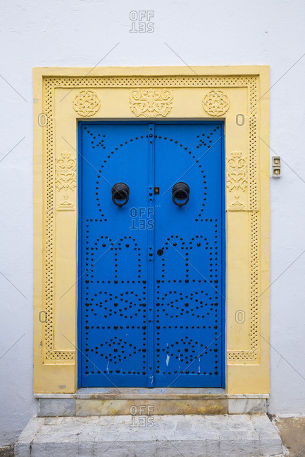 Tunisia, Picturesque whitewashed village of  Sidi Bou Said