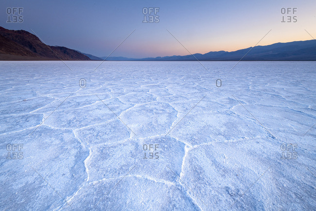 Salt flats in Death Valley National park, California, USA