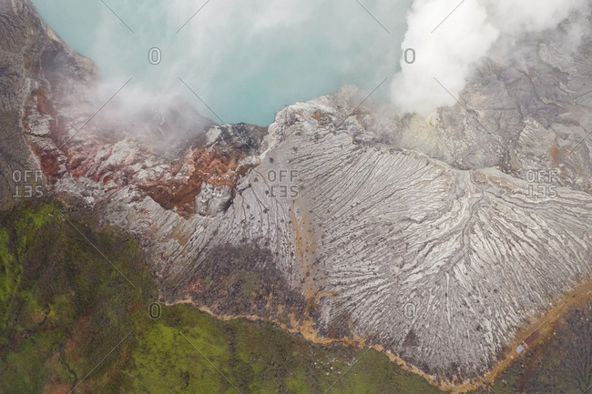 Aerial view of Gn. Merapi hot sprint, Indonesia.