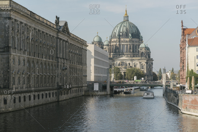 View to Berlin Cathedral with River Spree in the foreground- Berlin- Germany