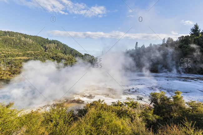 Artist�s Palette Lockout- Orakei Korako Geothermal Park- Taupo Volcanic Zone- North Island- New Zealand