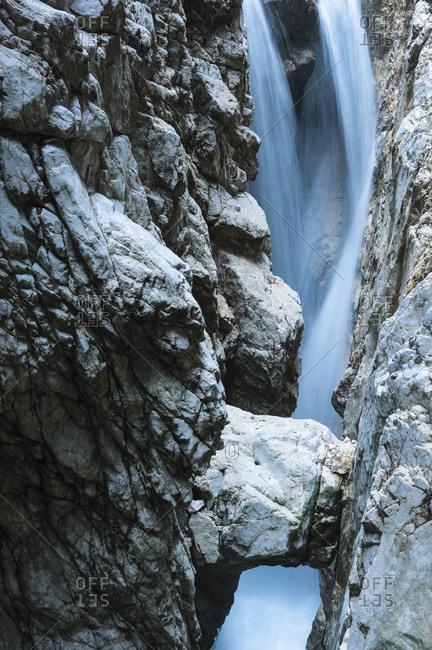 Rocks in the hollental gorge close Garmisch-Partenkirchen