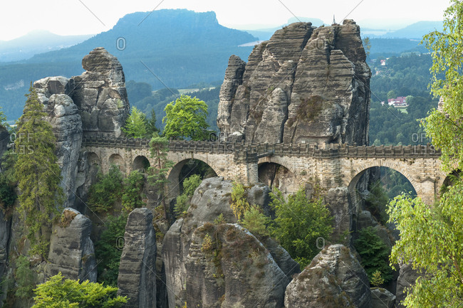 Germany, Saxon Switzerland, bastei, rock, bridge,