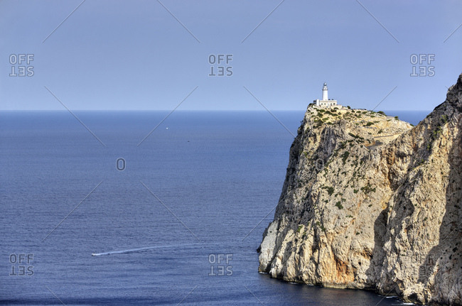 Spain, Majorca, cap formentor, rock, sea, lighthouse, sky