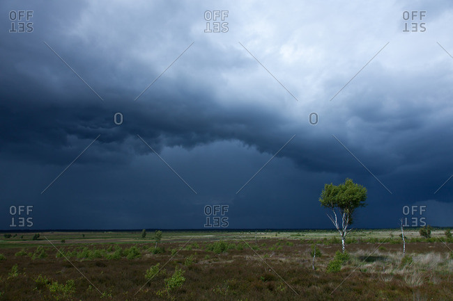 Storm clouds over the lueneburg heath