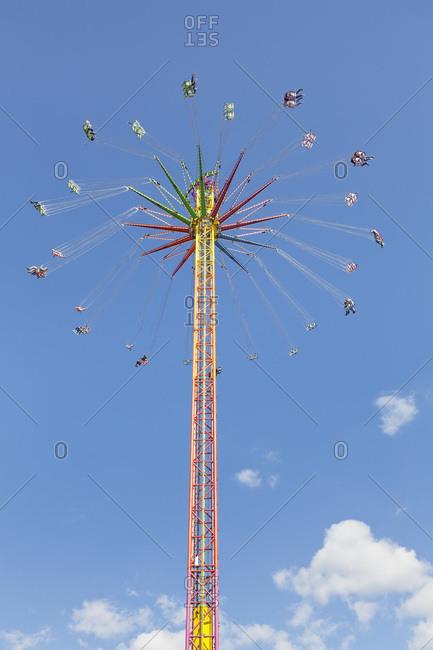 May 13, 2012: Carousel, spring festival at the cannstatter wasen, stuttgart, baden-wurttemberg, Germany