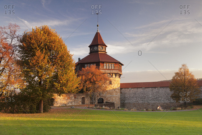 Dicker turm at the esslinger burg (castle), esslingen am neckar, baden-wurttemberg, Germany