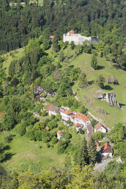 Ruin niedergundelfingen, gundelfingen, lautertal, swabian alps, baden-wurttemberg, Germany