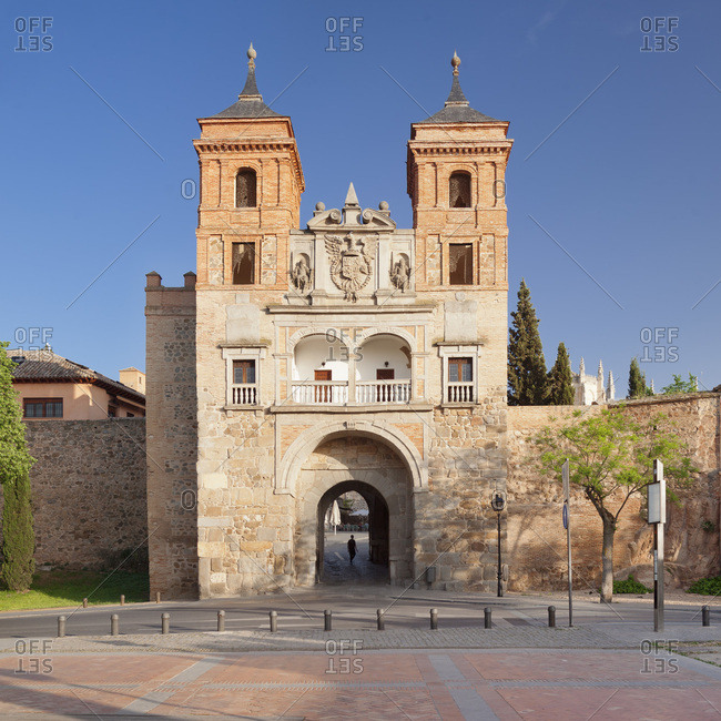 Puerta del cambron, cambron town gate (jewish gate), Toledo, kastilien-la mancha, spain