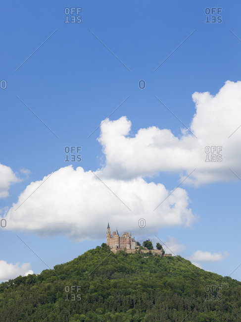 Hohenzollern castle, zollernalb (district), swabian alps, baden-wurttemberg, Germany