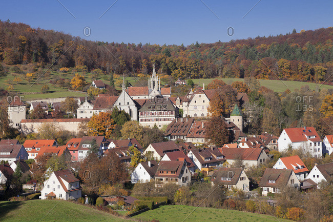 Bebenhausen abbey close Tubingen in the nature park Schon Buch, baden-wurttemberg, Germany