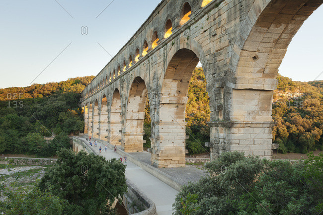 Pont du gard, roman aqueduct, unesco world heritage, gard river, languedoc-roussillon, the south of france, france