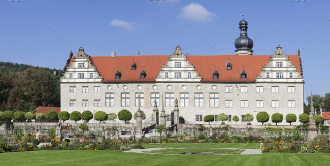 September 19, 2014: Weikersheim palace, weikersheim, romantische strasse (street), taubertal, main-tauber-kreis (district), baden-wurttemberg, Germany