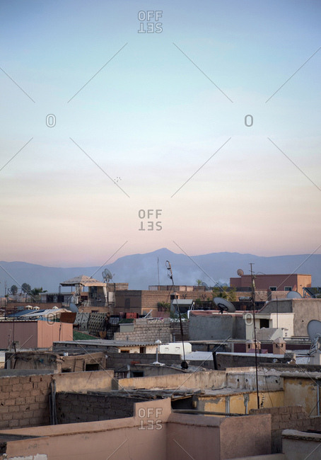 Marrakech, old town, roof, panorama, morocco