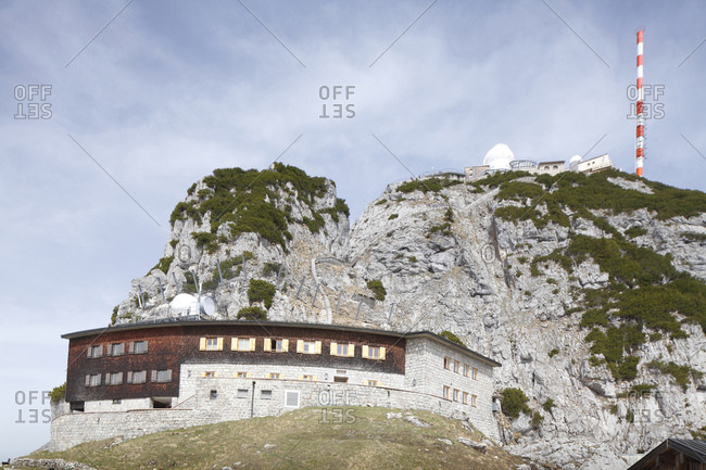 Wendelstein summit, house of bavarian radio stations, mangfall mountains, wendelstein, bayrischzell, upper bavaria, bavaria, Germany, europe