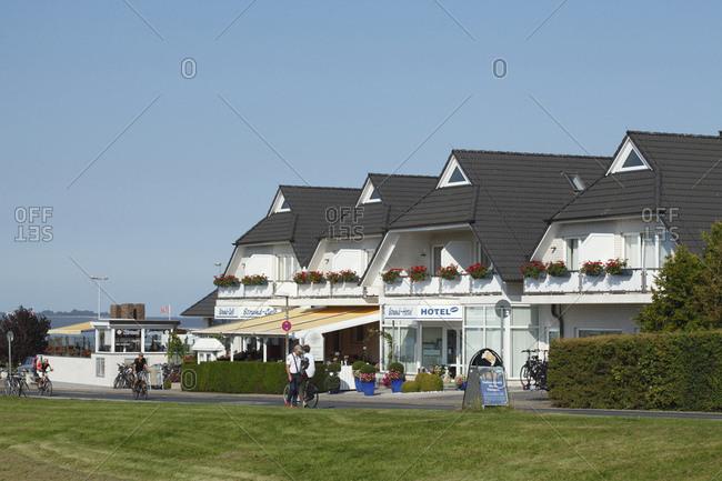 September 15, 2016: Beach hotel, north sea resort dangast, varel-dangast, lower saxony, Germany, europe