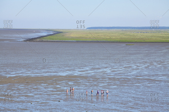 View from the lighthouse observers and on the wadden sea, dorumer neufeld, dorum, lower saxony, Germany, europe