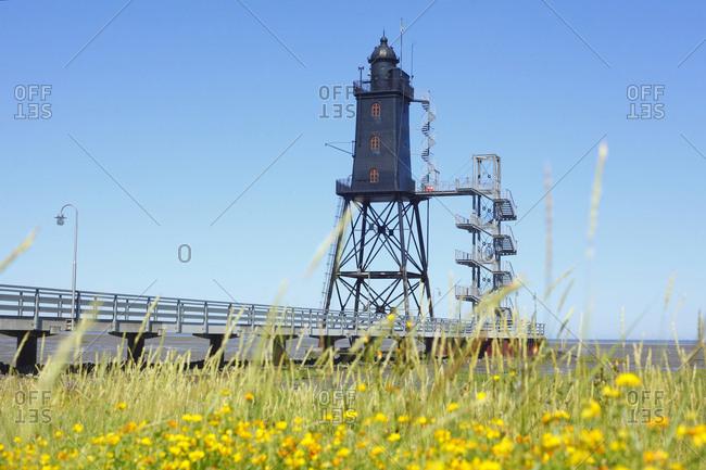 Lighthouse obereversand, dorumer neufeld, dorum, lower saxony, Germany, europe