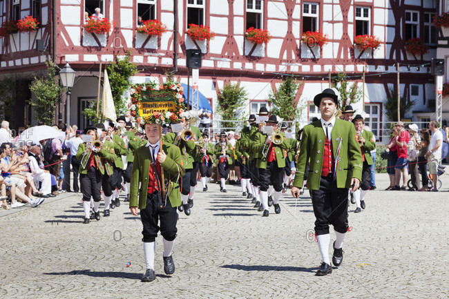 July 21, 2013: Historical pageant, Schaferlauf, bad urach, baden-wurttemberg, Germany