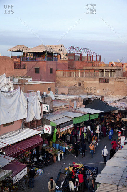 December 6, 2015: Marrakech, old town, market, morocco