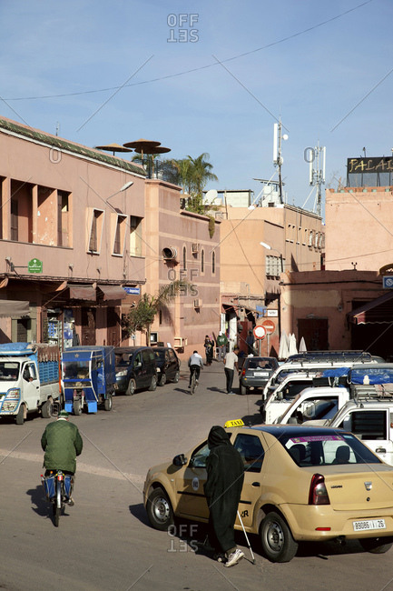 December 6, 2015: Marrakech, old town, street, morocco
