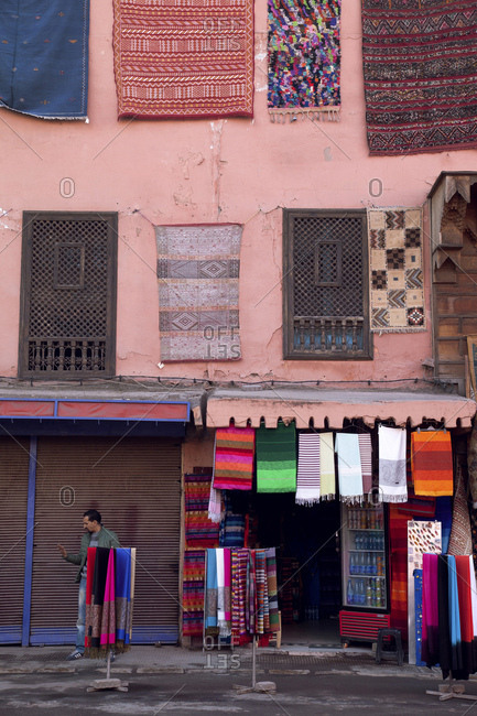 December 6, 2015: Marrakech, old town, shop, morocco