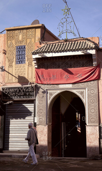 December 6, 2015: Marrakech, old town, houses, morocco
