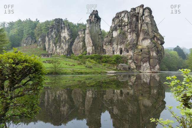 Germany, north rhine-westphalia, teutoburg forest, externsteine