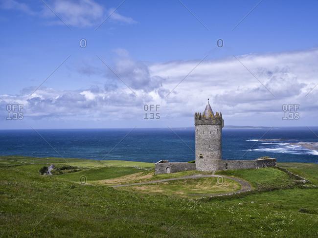 Ireland, county clare, o'brians tower near doolin