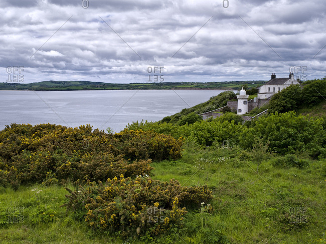 Ireland, county wexford, duncannon, lighthouse at waterford harbor