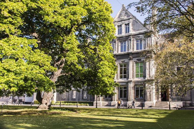 April 28, 2015: Dublin, trinity college on a sunny day
