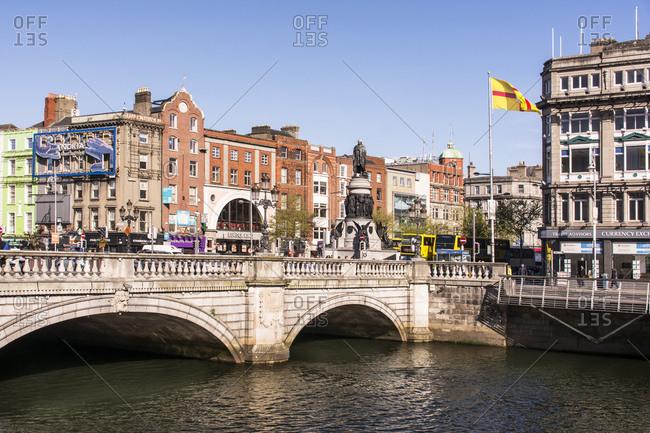 April 28, 2015: Dublin, connell bridge over the liffey