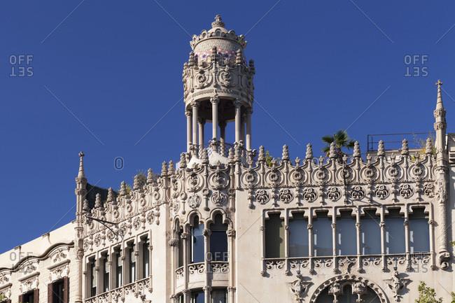 Casa lleo morera, modernism, architect domenech i montaner, eixample, barcelona, catalonia, spain