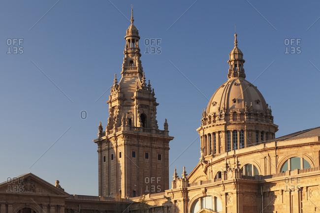 Palau nacional museum nacional d'art de catalunya, montjuic, barcelona, catalonia, spain