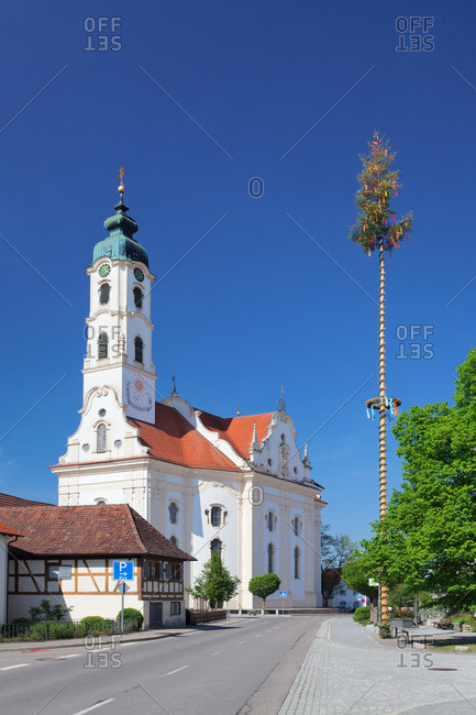 Church saint peter and paul, steinhausen, upper swabia, baden-wuerttemberg, Germany
