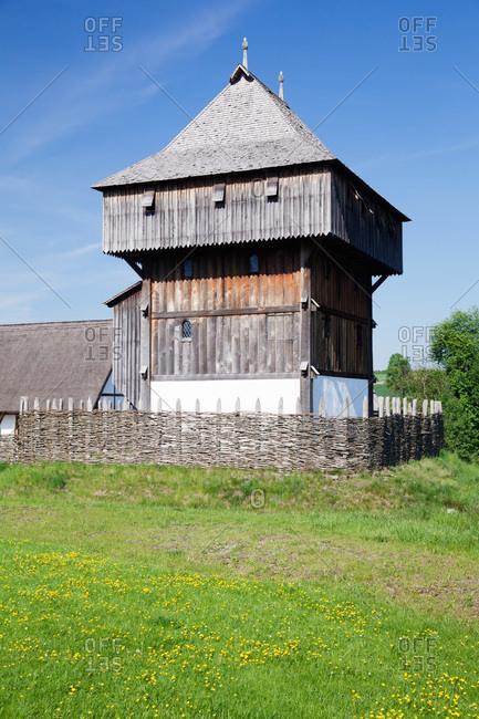 Bachritterburg, kanzach, upper swabia, baden-wuerttemberg, Germany