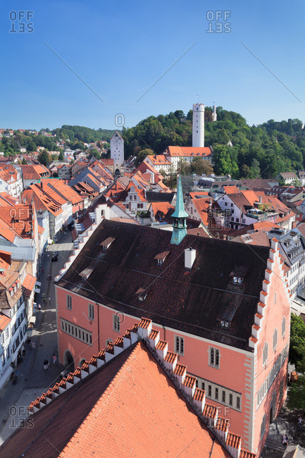 September 7, 2012: View from the blaserturm over ravensburg, upper swabia, baden-wuerttemberg, Germany