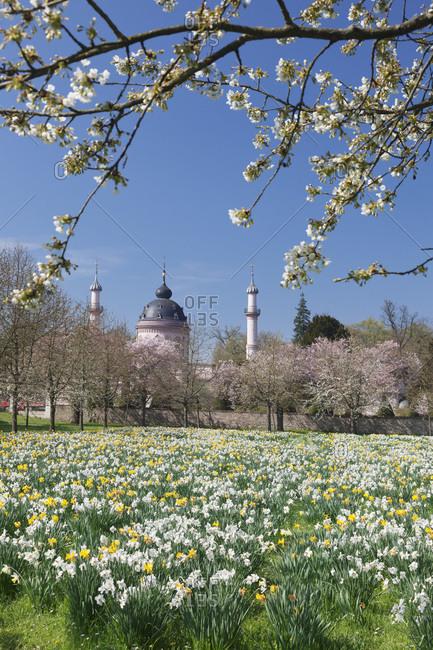 Germany, baden-wuerttemberg, schwetzingen, mosque in the castle garden, spring
