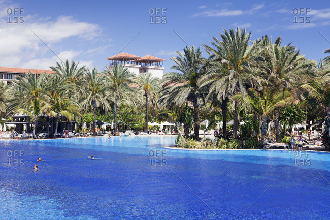 March 23, 2013: Pool of the grand hotel costa, meloneras, gran canaria, canary islands, spain