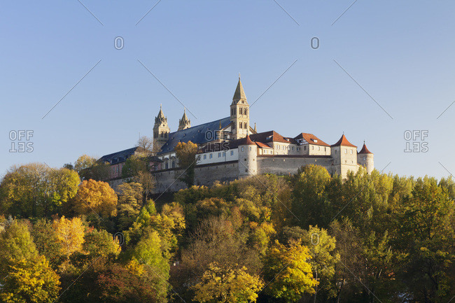 Benedictine abbey of Grosscomburg, steinbach, kochertal, schwäbisch hall, hohenlohe, baden-wuerttemberg, Germany