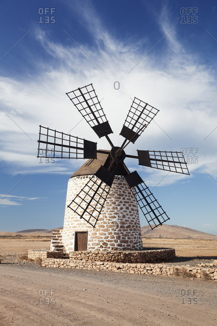Windmill, tefia, fuerteventura, canary islands, spain
