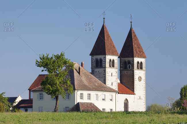 Abbey church st. peter and paul, niederzell, unesco world cultural heritage, island reichenau, lake constance, baden-wuerttemberg, Germany