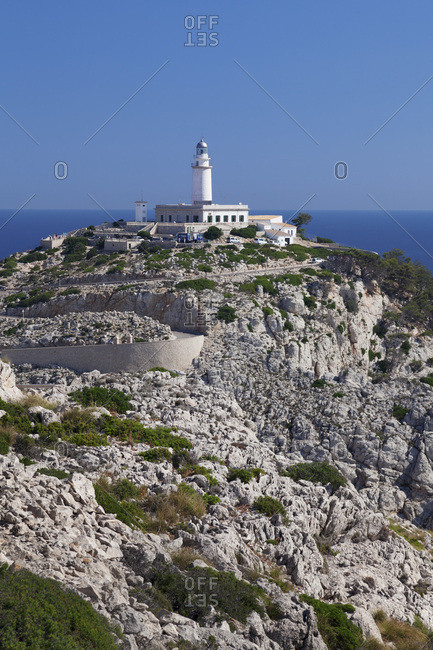 June 19, 2014: Lighthouse at cap de formentor, Majorca, the balearic islands, spain
