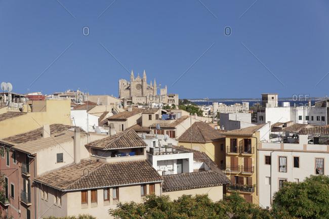 June 20, 2014: Cathedral la seu, palma de Majorca, Majorca, the balearic islands, spain