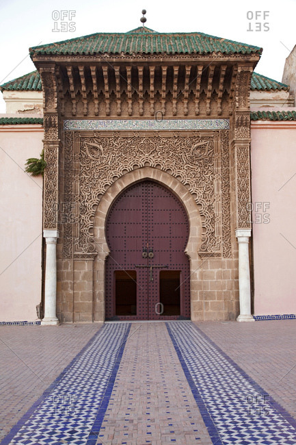 Meknes, mausoleum entrance in morocco