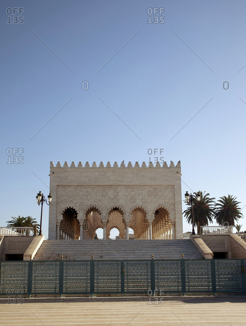 Rabat, mausoleum in morocco on a bright day