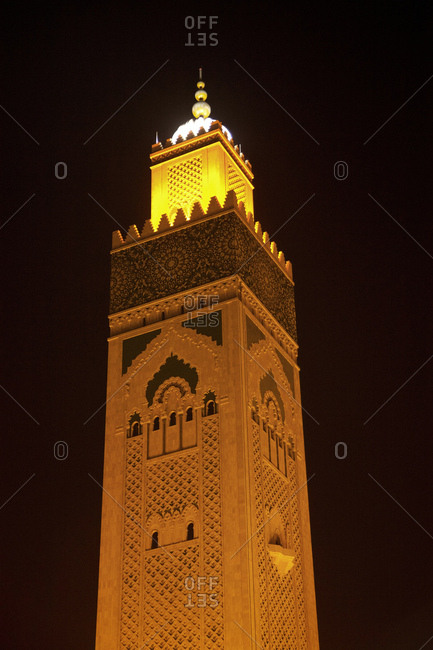 Casablanca, mosque, architecture, morocco on a sunny day